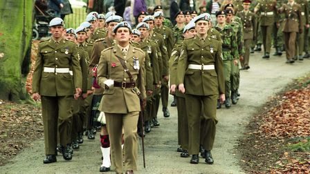 On parade for the Remembrance Day service at Christchurch Park in 1994