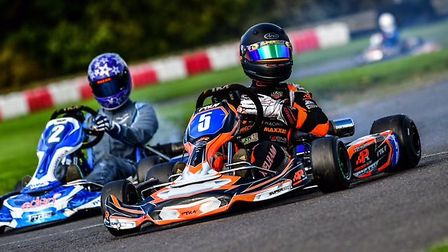 Ipswich racing driver Rob Welham on his way to winning the �Britain�s Finest� Event at Whilton Mill