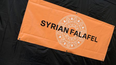 The Syrian Falafel stand will be open on the Cornhill in Ipswich every Tuesday. Picture: SARAH LUCY