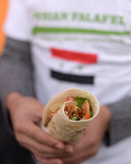 One of the Syrian Falafel wraps. Picture: SARAH LUCY BROWN