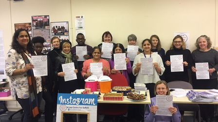 Supporters gather at ISCRE in Ipswich to mark National Pro Bono Week. Picture: GEMMA MITCHELL