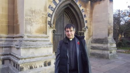 Rev Canon Charles Jenkin at St Mary Le Tower in Tower Street, Ipswich. Picture: MATT STOTT