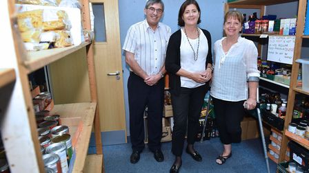 Volunteers at the FIND foodbank in Ipswich. Pictured is Maureen Reynolds. Picture: JAMES FLETCHER PH