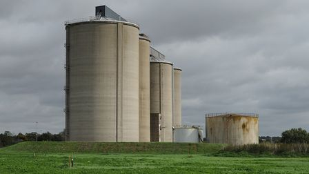 The silos at the sugar beet factory will be demolished early next year. Picture: SARAH LUCY BROWN