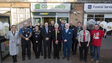 Joining the East of England Co-op security team and store colleagues were Usdaw, local PCSOs, Ipswic
