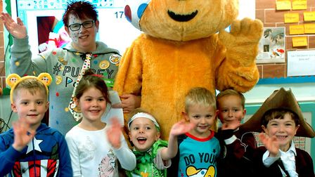 Hardwick Primary School in Bury St Edmunds received a visit from Pudsey during their BBC Children in