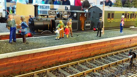 Visitors came to see the layouts at the model railway show. Picture: PAUL MORRIS