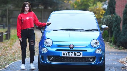 Kesgrave teenager Kim Sale, who lost her leg to cancer two years ago, has passed her driving test ag