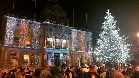 The real Cornhill Christmas tree in all its glory. Picture: ARCHANT