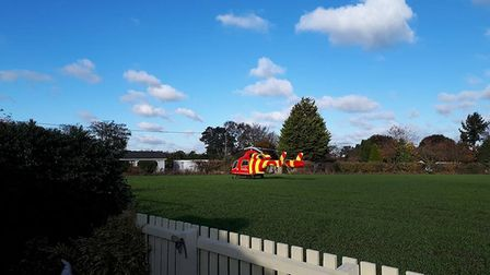 The Essex and Herts Air Ambulance was called to Chelmondiston to a four-vehicle crash. Picture: KEVI
