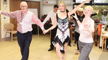 Hospice Does Strictly brings residents and staff together at St Elizabeth's Hospice Picture: GREGG B