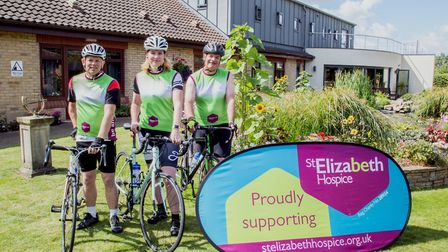 Alwyn Nash, Emma Kindred and John Wright preparing for the ride across Germany to raise funds in mem