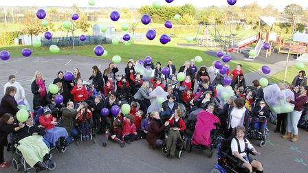 The balloon release at the Thomas Wolsey School. Picture: PAUL NIXON PHOTOGRAPHY