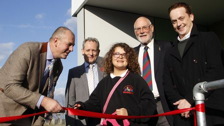The new sensory room at the Thomas Wolsey School in Ipswich is officially opened. Picture: PAUL NIXO