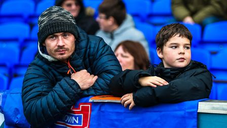 Fans at the Ipswich Town v Preston North End (Sky Bet Championship) match. Picture: STEVE WALLER