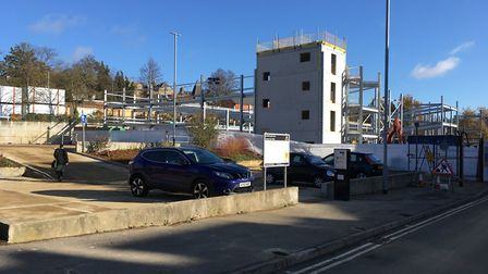 Crown Car Park is being developed into a multi-storey, but 44 spaces have opened ahead of Christmas.