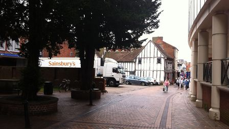 The incident is alleged to have happened in St Stephen's Church Lane, Ipswich. Picture: ARCHANT LIBR