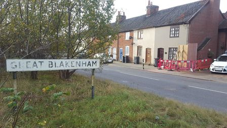 The scene of a crash in Great Blakenham. Picture: ARCHANT