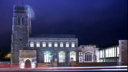 Quay Place lit up at night. Picture: ANDY MARSHALL