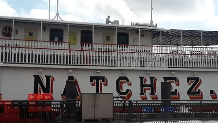 The Natchez steamboat on the Mississippi. Picture: JANE TUOHEY