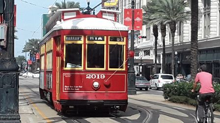 The women got around the city using its famous street cars. Picture: JANE TUOHEY