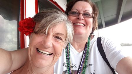 Jane Touhey, right, set up the Facebook group in 2014. Picture: JANE TUOHEY