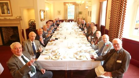 Reunion of Morthgate Grammar School boys from 1945 at Ipswich and Suffolk ClubPICTURE :SEANA HUGHES