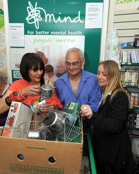 A live hand grenade was found in a box delivered to the Mind charity shop in Ipswich. Picture: PHIL