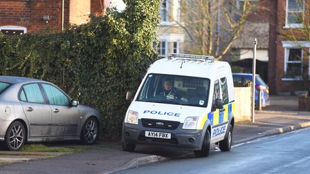 Police attend Richmond Road incident in Ipswich after an armed assault. Picture: ARCHANT
