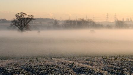 Freezing fog has been forecast for Suffolk tomorrow. Picture: SIMON PARKER
