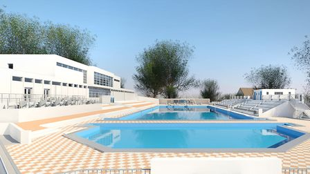 Architect's impression of the rebuilt Broomhill lido. Picture: KLH Architects