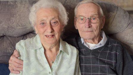 Frances and Bernard Studd are celebrating their 65th wedding anniversary. Picture: SARAH LUCY BROWN