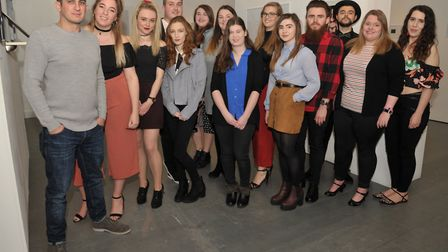 Students from the University of Suffolk are exhibiting their work at the Waterfront Gallery. Pictur