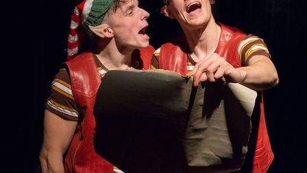 Ryan Penny and Darren Latham in Red Rose Chain show The Elves and the Shoemaker. Photo: Bill Jackson