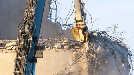 Demolition work starts at the Sproughton sugar beet factory site. Picture: NICOLE DRURY, IBC