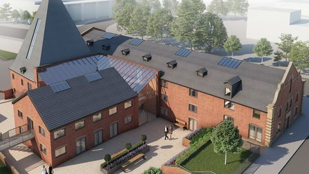 An architect's impression of the new business centre. Picture: IBC