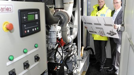 Ipswich Hospital as it planned to switch on a new environmentally-friendly generator to revolutionis