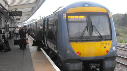 Greater Anglia are reporting delays. Picture: PAUL GEATER