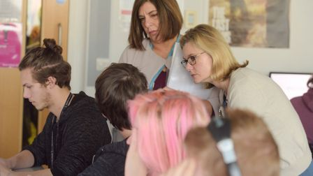 Education Secretary Justine Greening visiting Suffolk New College. Picture: SARAH LUCY BROWN