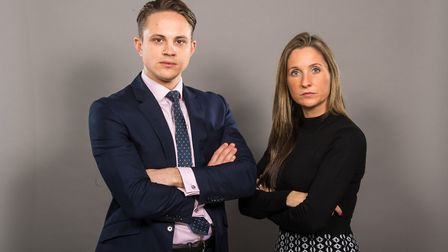 Apprentice finalists James and Sarah. PICTURE: Dominic Lipinski/PA Wire