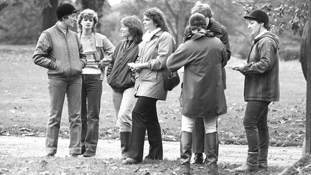 Some of those who turned out to enjoy horse riding lessons at Christchurch Park in 1982