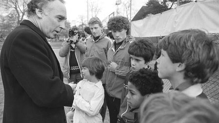 Environment and sport minister Neil Macfarlane visited Ipswich in this month in 1982