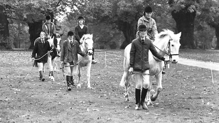 Horse riding lessons in Christchurch Park in 1982