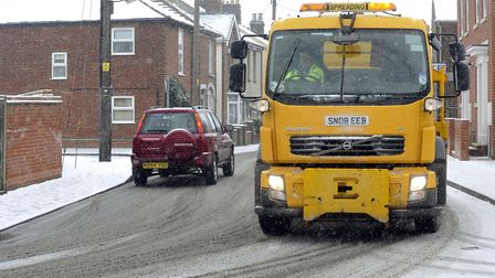 Gritter at work on Colne Road, Brightlingsea (stock image). Picture: ANDREW PARTRIDGE