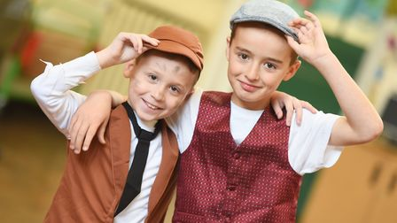 Ranelagh County Primary School children tip their caps. Pictured: GREGG BROWN