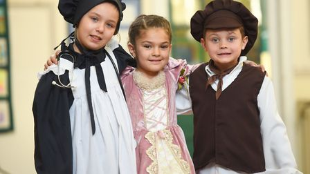 The children get dressed up in authentic Victorian cloths. Pictured: GREGG BROWN
