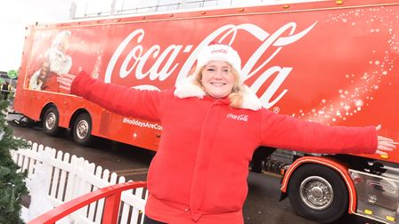 Coca Cola truck arrives in Ipswich. Picture is Sarah Thomas. Picture: GREGG BROWN