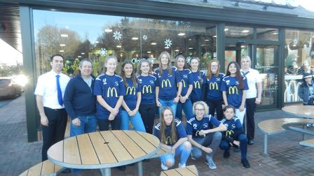 The Capel Krakens FC under 15s girls team in their kits. Picture: CONTRIBUTED
