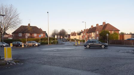 Mini roundabout at Rands Way, Ipswich. Picture: ARCHANT