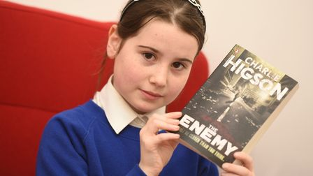 Kelsea says the book is too gory and prefers Roald Dahl novels. Picture: GREGG BROWN